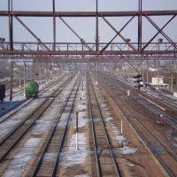 Вид с моста на железную дорогу (View of the railway from the bridge), Макинск