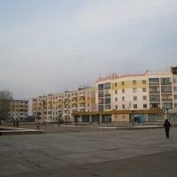 Akmol settlement (former Malinovka). Central square, Целиноград