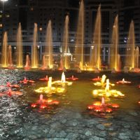 Світло-музичне фонтанне шоу_Fountain. Light and music show, Астана
