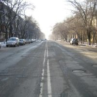 Typical residential street in Almaty, Kazakhstan 2006, Аршалы