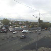 Вид с пешеходного мостика на юго-запад, Аршалы