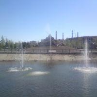 Плавающий фонтан, Кокшетау
