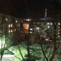 Ночной вид двора, Кокшетау