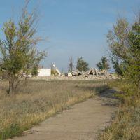 Все,что осталось от стадиона фото осени 2008 г., Курчатов