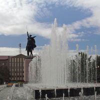 На площади Чапаева в Уральске, Уральск