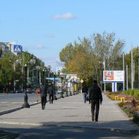 Uralsk. On street Dostyk., Уральск