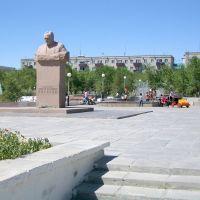 Памятник академику С.П.Королеву / Memorial of academician Sergey Koroleov, Байконур