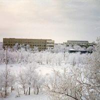 Байконур, ул. Мира, зима, конец 1990-х гг., Байконур