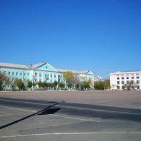 Площадь Ленина. Вид на штаб., Байконур