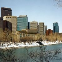 Bow river & Calgary Downtown, Калгари