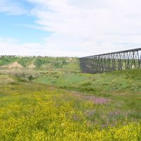 Worlds longest and tallest trestle bridge, Летбридж