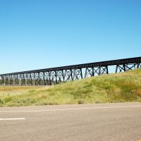 Railroad Bridge at Lethbridge, Alberta, Canada, Летбридж