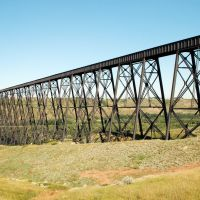 Canadian Pacific Railway Bridge at Lethbridge, Alberta, Canada, Летбридж