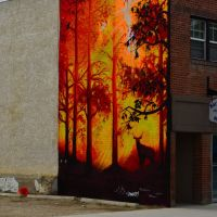 Building Mural, Red Deer, Ab. Canada, Ред-Дир