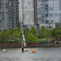 Tide Clock at high water, off north shore of False Creek Vancouver (Brush with Illumination), Ванкувер
