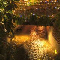 BX Creek Where It Runs Right Through And Under The Hotel, Vernon BC Dec 12, Вернон