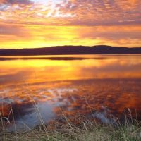 Francois Lake Sunrise, Дельта