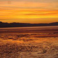 Winter sunset Francois Lake, Дельта