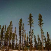Starry night sky at Co-op Lake, Коквитлам