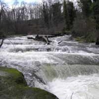 Millstone River rapids near estuary, Нанаимо