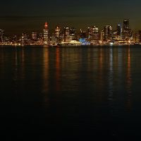 Dawntown Vancouver from Lonsdale Quay, Норт-Ванкувер