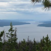 looking NW down Babine Lake,  BCs largest, Принц-Джордж