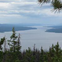 looking NW down Babine Lake,  BCs largest, Принц-Джордж