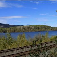 Decker Lake Yellowhead Hwy, Bulkley-Nechako A, BC, Kanada ... C, Принц-Джордж