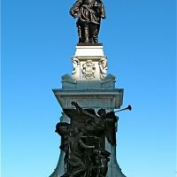 Statue de Samuel de Champlain, hiver 2009, Джонкуир