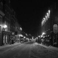 Hiver en noir et blanc: rue Saint-Louis, Квебек