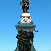 Statue de Samuel de Champlain, hiver 2009, Квебек