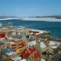 Fleuve St-Laurent en hiver, de la Terrasse Dufferin, Квебек