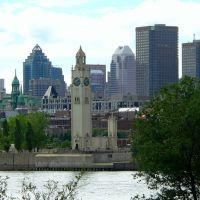Canada, la ville de Montréal le Quai de lHorloge sur le St Laurent, Монреаль