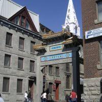 Quartier Chinois & Église de la Mission Catholique Chinoise, Montréal, Quebec, Монреаль