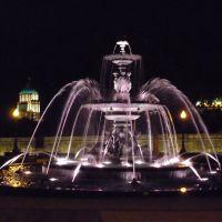 Fontaine de Tourny et édifice Price la nuit, Репентигни