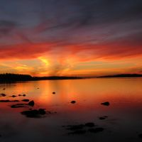 Coucher de soleil sur promenade de la mer - 7, Римауски