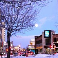 Lune de fin de journée à Riki -  (Rimouski, QC., Ca, Римауски