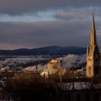 church and smoke, Чарльсбург