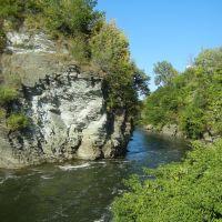La rivière Magog en plein coeur du centre-ville de Sherbrooke, Шербрук