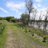 Walkway beside river, Брандон