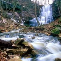 Sherman Falls and Ancaster Creek in March, Анкастер