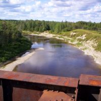 North view from Pagwa River railway bridge, Гуэлф