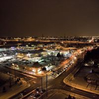 Burlington at night - looking east from near Francis Rd and Plains Rd E, Ла-Саль