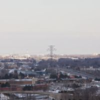 View towards Toronto - CN tower faintly visible near hydro towers, Ла-Саль