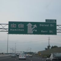 QEW Dorval and Kerr Exit, Оаквилл