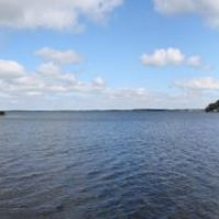 Lake Couchiching, from Lightfoot Trail in Orillia (180° panorama), Ориллиа