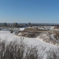 The Ottawa river seen from Parliament Hill, Оттава