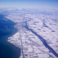 Niagara Escarpment and town of Grimsby, Стони-Крик