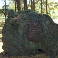 Rock Monument:Planting of Trees 1937 by Boy Scouts to Commemorate the Cornation of George 1V and Queen Elizabeth, Стратфорд