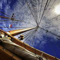 Bluenose Mast at Toronto Boatshow 2008, Торонто